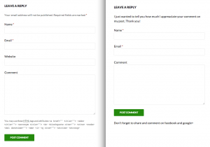 Comment Form Example